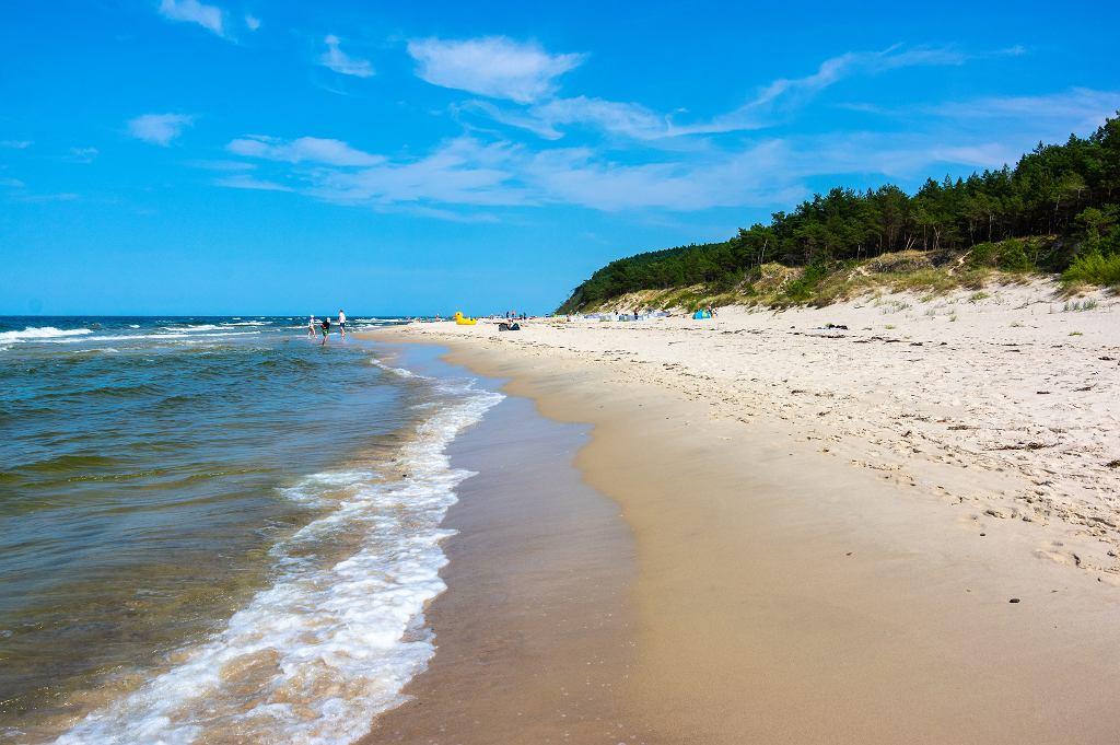 Plaża w miejscowości Wisełka