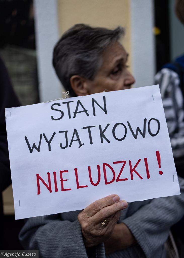 Protest '' NIE dla stanu wyjątkowego przy granicy z Białorusią''