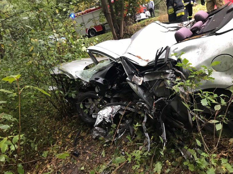 Kierowca zginął na miejscu /Policja