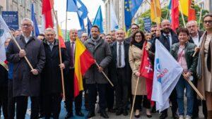 protest samorządowców, Warszawa fot. UMP